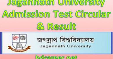 Jagannath University Unit-1 (Science Group) Admission Test Result 2019-20