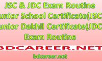 JDC Exam Routine 2019 Junior Dakhil Routine 2019